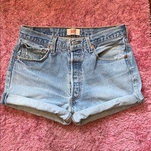 501 Levi's vintage denim shorts